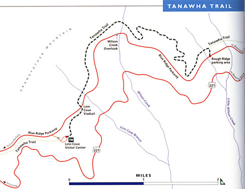 map of Tanawha Trail